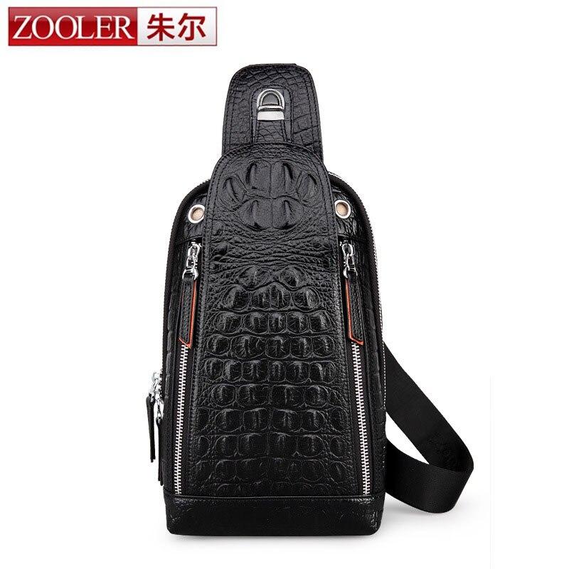 ZOOLER Hot Men Genuine Leather Chest Crossbody Bag Casual Men Messenger Bag High Quality Chest Bag Genuine Leather Messenger Bag