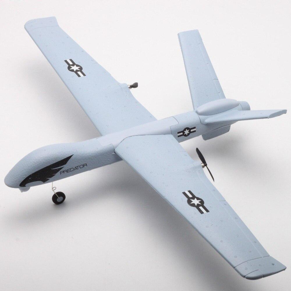 Z51 prédateur 660mm envergure 2.4G 2CH EPP bricolage planeur RC avion RTF intégré gyroscope