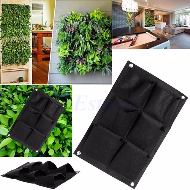 6 Pockets Vertical Garden Wall Planter Hanging Planting Bag FOR ...