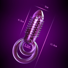 Double Ring Vibrator Male Longer Lasting font b Sex b font Crystal Vibrators CockRing PenisRings Vibrating