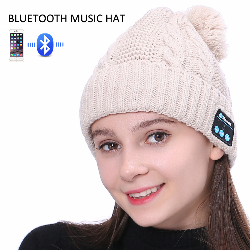 Wireless Bluetooth Beanie Hat Phones Bluetooth Earphone Smart Headset Speaker Mic Winter Outdoor Sport Stereo Music Hat wireless bluetooth music beanie cap stereo headset to answer the call of hat speaker mic knitted cap