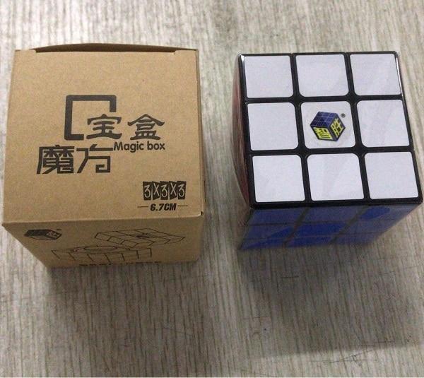 New Yuxin Zhisheng Treasure Box 3x3x3 Cube BaoHe 3x3 Professional Stickerless Magic Cube Black Puzzle Twist Educational Toys