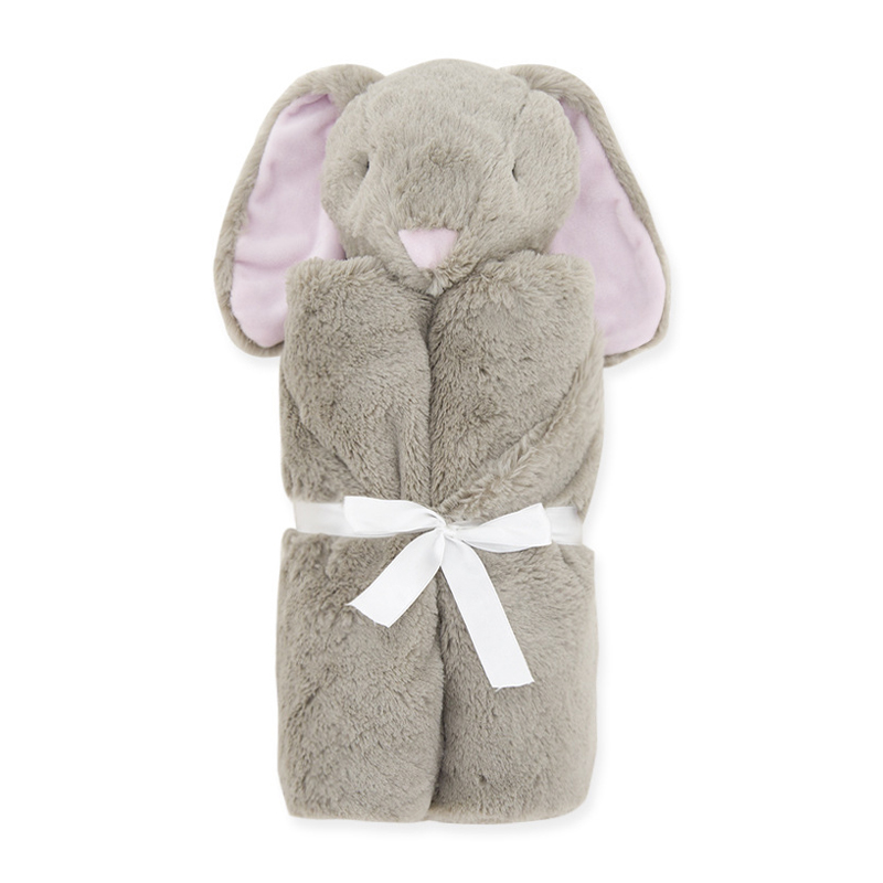 Baby Blankets Newborn Knitted Baby Covers Rabbit Bear Swaddling Newborn Soft Warm Coral Fleece Plush Animal Educational Plush