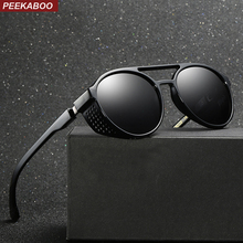 Peekaboo man polarized sunglasses men shield 2019 summer blu