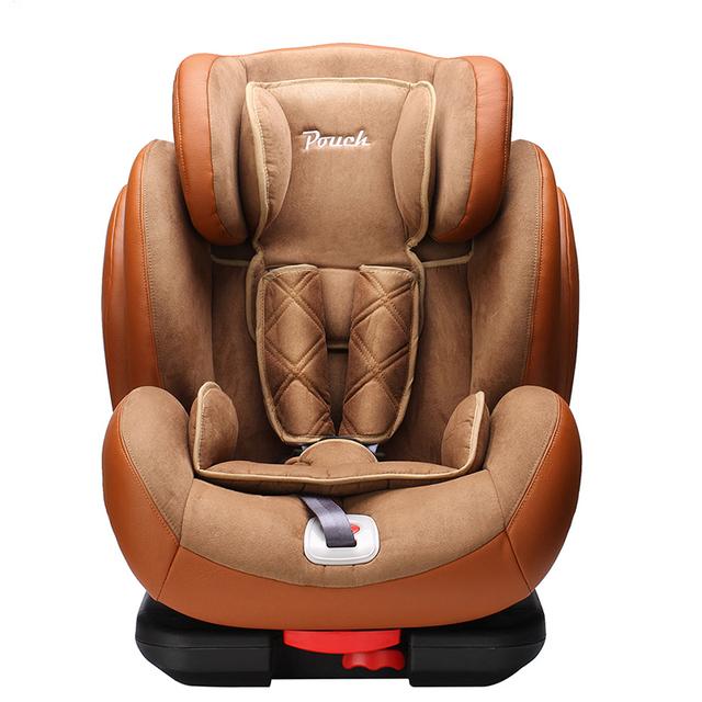 Pouch isofix9-12 asiento de seguridad para niños silla de coche de bebé del coche opel color rojo-marrón negro