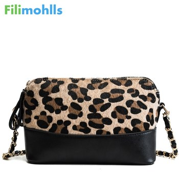 Women Plush Lether Shoulder Bag Fashion Small Messenger Crossbody Bags Famous Brand Leopard Print Chain Bag Handbags S1791