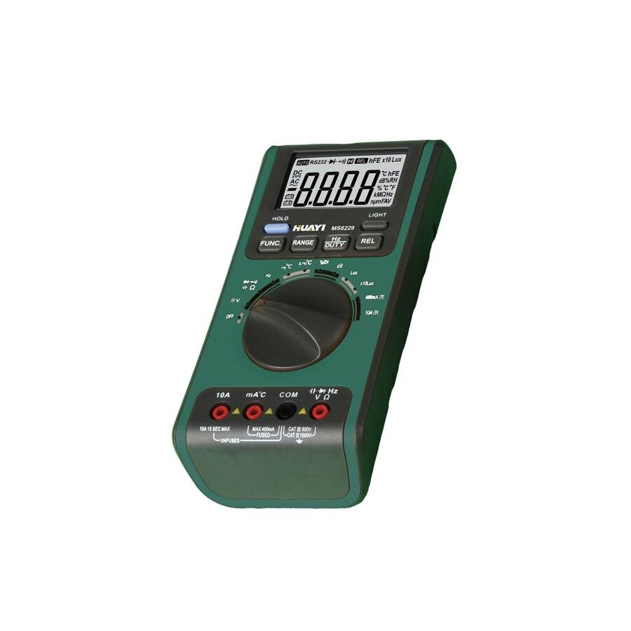 Mastech MS8229 5in1 Auto range Digital Multimeter Lux Sound Level Temperature Humidity Tester Meter 4000 Counts mastech ms8209 auto range 5 in 1 multimeter lux sound level humidity temperature tester