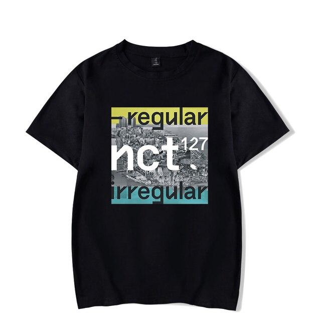 c14f2357275 Kpop NCT 127 NCT127 TEN Album Shirts K-POP Casual Cotton Clothes Tshirt T  Shirt Short Sleeve Tops T-shirt Summer Women Shirt Top