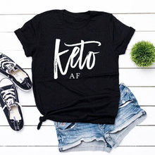 7b74bd64 Keto AF Shirt Unisex Teen Aesthetic Tumblr Hipster Grunge Tees Tops Casual  Summer Crew Neck Short Sleeve Funny T-shirt Outfit