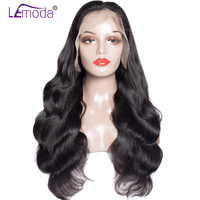 Lemoda 360 Lace frontal Wig Brazilian Body Wave Human Hair Wigs For Black Women Pre Plucked With Baby Hair 200% Density Wigs