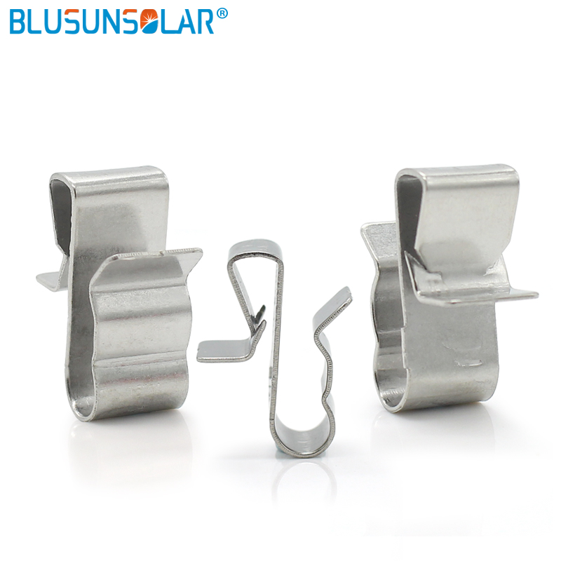 100 pcs/lot High quality Solar PV Cable Clips , Stainless Steel Wire Cable Clamp XJ0210