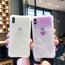 Tfshining Luxury Glitter Bling Phone Case For iphone X 7 8 Plus 6 6S XR XS Max Cute Love Heart Stylish Soft Back Cover Capa