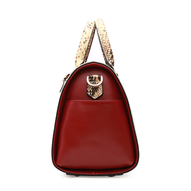Femmes Dames Cuir Célèbre Boston Red À En Split D'épaule De Sacs Sac wine Messager Féminins Incliné Marques Main Hhandbag 2018 black White qw8xXt8S
