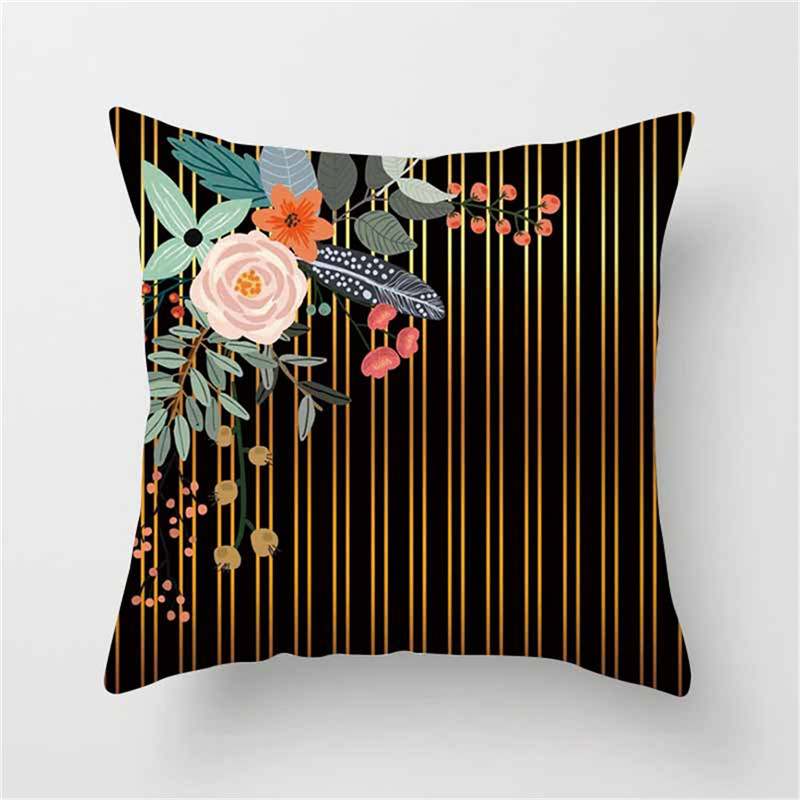 Fuwatacchi Geometric Cushion Cover Deer Floral Soft Throw Pillow Cover for Chair Sofa Pillow Case Decorative Pillowcase 2019 in Cushion Cover from Home Garden