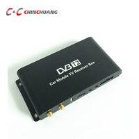 180-200 km/u Speed Rijden DVB-T2 Auto 4 Antenne 4 Mobiliteit Chip DVB T2 auto Digitale Auto TV Tuner HD 1080 P Ontvanger BOX voor Auto DVD
