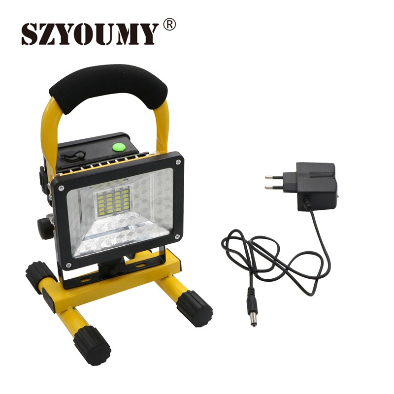 Outdoor light reflector outdoor lighting ideas szyoumy 6pcs portable floodlight led rechargeable flood light ip65 outdoor lighting lamp for activities reflector in aloadofball Gallery