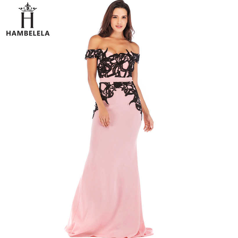 73cd9157cdb6b HAMBELELA Vestido De Festa Mermaid Lace Top Bodice Slim Bodycon Long Dress  Formal Party Dress Charming Wedding Party Gown Dress
