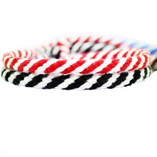 5mmx10m  weave rope cotton cord spiral two-color decoration red white DIY handmade