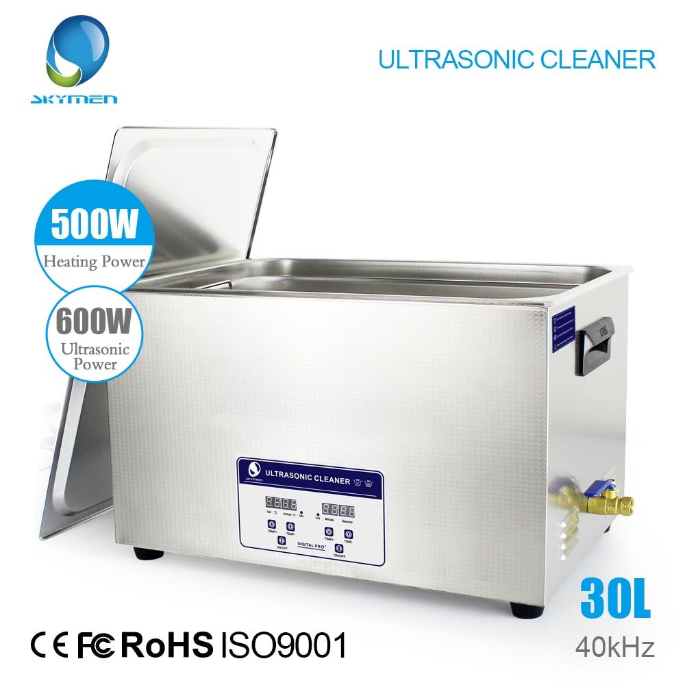 SKYMEN цифровой ультразвуковой очистки ванны 30L 600 Вт 40 кГц нагреватель для лабораторных медицинское оборудование части платы Гольф клубы