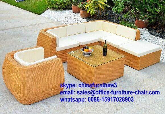 Exterior ocio sofá hot sale PE y aluminio o marco de hierro jardín ...