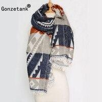 Gonzetank Luxury Brand 2017 Winter New Womens Burnout Long Folk Custom Charm Warm Multifunctional Fashion Scarf