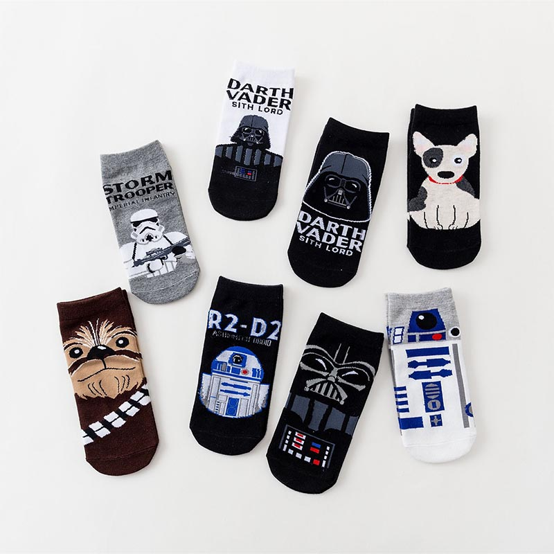 Star Wars   Socks   Creative Heels Hip Hop Street motion boat   Socks   Novelty Men Women   Sock   Summer boat   socks