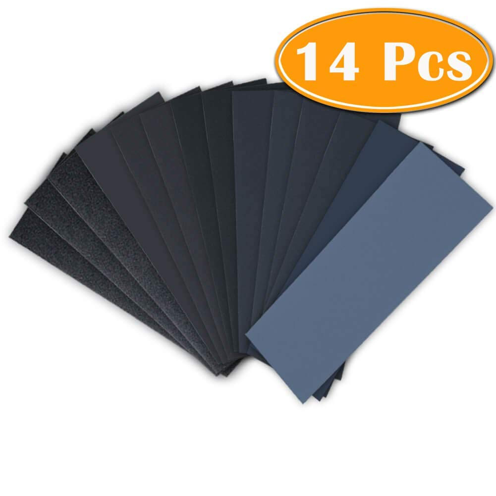 120 to 3000 Grit Sandpaper Assortment 3 140 Pieces Sandpaper Assorted Wet// Dry