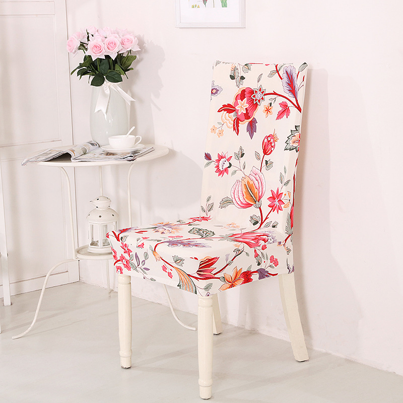 Dirty Kitchen Table: Elastic Stretch Spandex Chair Covers Floral Printing Anti