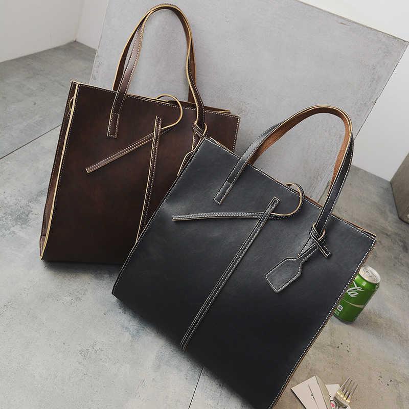 1e3e6dd27641 Большие сумки 2019 винтажная короткая женская Дамская сумка официального  стиля Большая вместительная Универсальная женская ...