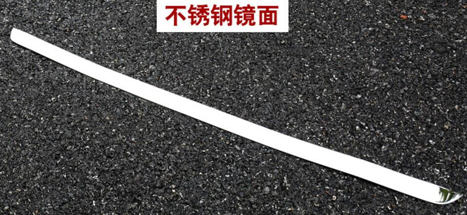 Free shipping for 2011 2012 2014 2015 for KIA Sportage R Stainless Steel back rear trunk Protection decoration sequins