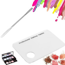 Stainless Steel Makeup Mixer Nail Art Polish Mixing Plate Foundation Eyeshadow Eye Shadow Mixing Palette with Rod Tool rp