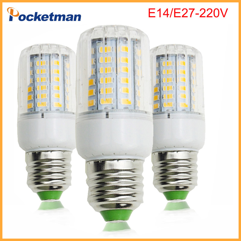 E27 220V LED Lamp 5730 SMD LED Bulb E14 Corn 50W 40W 30W 25W 15W 12W 7W Leds Lamp Bombillas Light Bulbs Lampada Ampoule LightingE27 220V LED Lamp 5730 SMD LED Bulb E14 Corn 50W 40W 30W 25W 15W 12W 7W Leds Lamp Bombillas Light Bulbs Lampada Ampoule Lighting