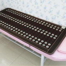Забота о здоровье нефритовый грелку натуральный турмалин подушка для ног Подогрев Нефритового матраса массажер для тела 50*150 см