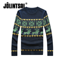 Jolintsai Christmas Costumes Winter Sweater With Deer Blusas 2017 O-neck Sweaters And Pullover Christmas Male Sweater Pull Homme