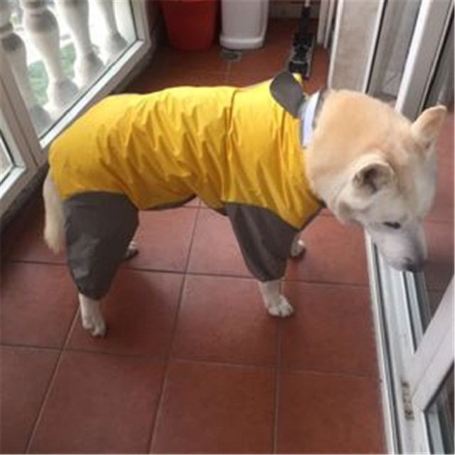 Large Dog Raincoat Jumpsuit  5