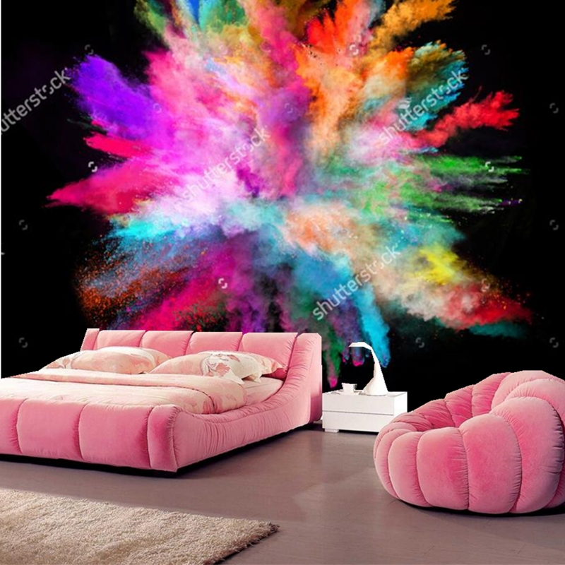 Color wallpaper.colorful powder on black background,Modern photo for ...