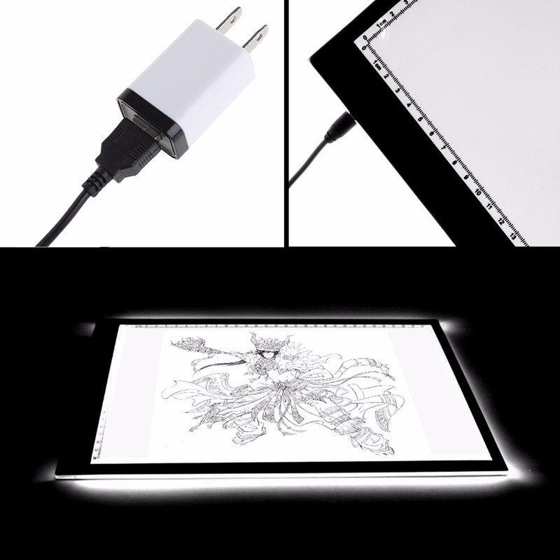 2018 High Quality LED Tracing light Box Board Artist Tattoo A4 Drawing Pad Table Stencil Display2018 High Quality LED Tracing light Box Board Artist Tattoo A4 Drawing Pad Table Stencil Display