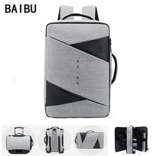 BAIBU Mannen Rugzak Mannelijke Laptop 15.6 Inch Tas Outdoor Reizen USB Opladen Mochila Manager Smart Anti Diefstal Rugzakken Tas