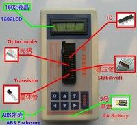 Digital IC Tester Transistor Tester Detect ntegrated Circuit IC Tester Meter MOS PNP 74ch 74ls CD4000 HEF400 4500 amplifiers