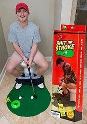ألعاب إبداعية مثيرة للاهتمام المرحاض اللعب قعادة مضرب الحمام جولف فاني اللعب الكمامة نكتة اللعب لحركة المرحاض