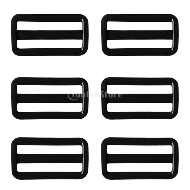 6PCS Scuba Diving Dive Plastic Weight Belt Slide Keeper Standard 2″ Webbing Retainer Stopper Water Sports Accessories