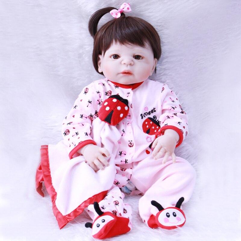 2255CM reborn Baby Doll Princess Girl Dolls full body Soft Silicone Babies Girls Lifelike real born dolls bebe real reborn bone цена