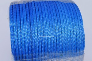 Image 2 - Blue 6mm*100m 12 Strand Synthetic Winch Rope,ATV Winch Line,12 Plait UHMWPE Rope,Off Road Rope