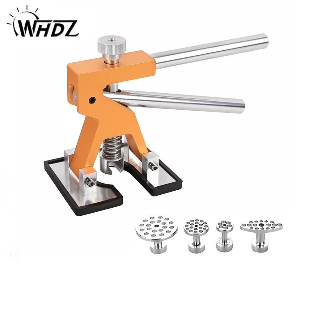 WHDZ PDR Tools Kit Professional Hand Tool Sets Golden Dent Lifter Car Paintless Dent Repair Tools Set Gold Dent Puller Glue Tabs pdr tools for car kit dent lifter glue tabs suction cup hot melt glue sticks paintless dent repair tools hand tools set