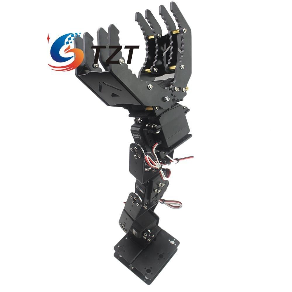 6DOF Robot Mechanical Arm Hand Clamp Claw Manipulator w/ Digital Servo for Arduino DIY 6 dof metal mechanical arm robot manipulator robotic claw robotics part for diy rc toy remote control clamp paw claw servo