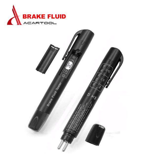 Handhold Car Brake Fluid Tester Diagnostic Tool 5 Leds Accurate Oil Quality Check Pen Digital Tester Vehicle Black