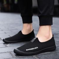 Для мужчин дышащая обувь для Для мужчин профессиональная обувь Брендовая Дизайнерская обувь Для мужчин s Черный Холст shoeses Оптовая человек