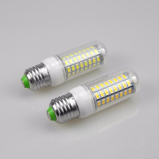 1Pcs 2018 Full NEW LED lamp E27 E14 3W 5W 7W 12W 15W 18W 20W 25W SMD 5730 Corn Bulb 220V Chandelier LEDs Candle light Spotlight