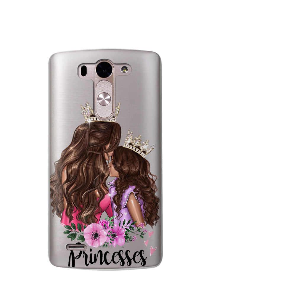 الأميرة أمي طفلة الصيف الملكة Fundas ل LG G6 Q6 جراب هاتف G3 G4 G5 G7 كوكه XPower 2 V30 q8 K7 K8 K10 2017 Etui غطاء