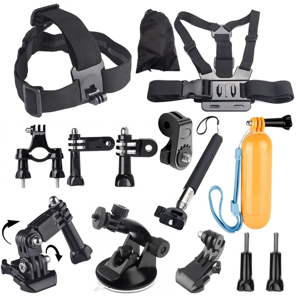 Monopod Chest Head Strap Floating Bobber Mount Accessories kit for Sony Mini Cam Action Camera HDR AS20 AS30V AS15V AS200V AS300